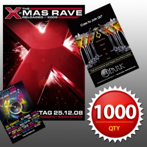 """1000 4""""x6"""" Flyers on 100LB Gloss Book with AQ"""