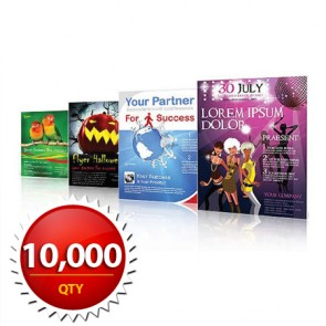 """10000 8.5""""x11"""" Flyers on 100LB Gloss Book with AQ"""