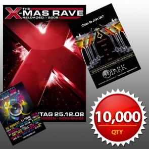 """10,000 4""""x6"""" Flyers on 100LB Gloss Book with AQ"""