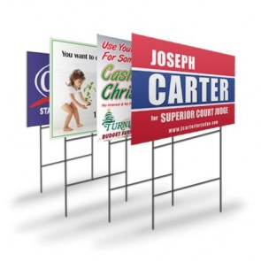 "18"" x 24"" Yard Signs with Free Stakes"
