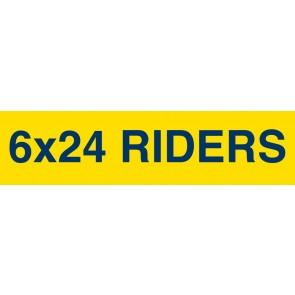 "Digital Full color Rider signs 6"" x 24"" Yard Signs"