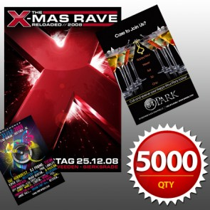 """5000 4""""x6"""" Flyers on 100LB Gloss Book with AQ"""