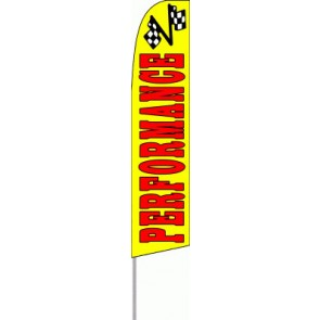 Performance (Yellow)  Feather Banner Flag