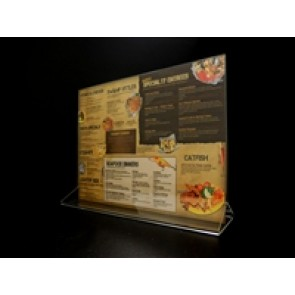 "Acrylic Top Loading Display Sign Holder 11"" x 8.5"""