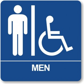 "ADA Signs 8"" x 8"" Men w/wheel chair"