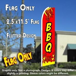 BBQ (Red) Flutter Feather Banner Flag (11.5 x 2.5 Feet)