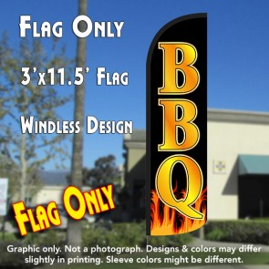 BBQ Windless Polyknit Feather Flag (3 x 11.5 feet)