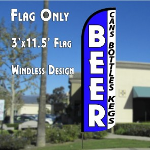 Beer (Cans, Bottles, Kegs) Windless Advertising Flag