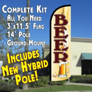 Beer (Mug) Windless Advertising Kit beer flag kit
