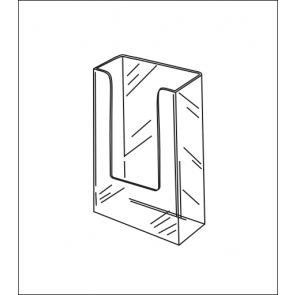 Medium Wallmount Acrylic Brochure Holder
