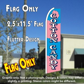 COTTON CANDY (Striped) Flutter Feather Banner Flag (11.5 x 2.5 Feet)