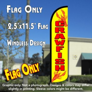 crawfish flutter feather banner flag