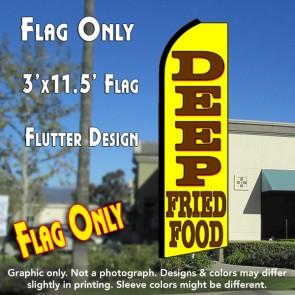 DEEP FRIED FOOD Flutter Feather Banner Flag (11.5 x 3 Feet)