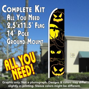 EYES (Halloween) Flutter Feather Banner Flag Kit (Flag, Pole, & Ground Mt)