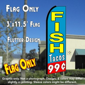 99 cents fish tacos feather flag