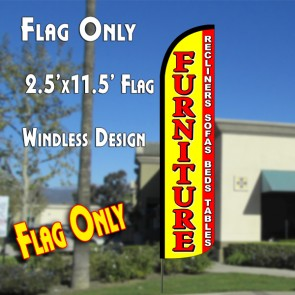 Furniture Sale (Yellow/red)  Feather Banner Flag