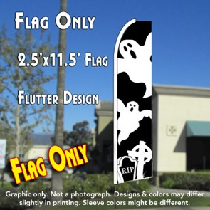GHOSTS (Halloween) Flutter Feather Banner Flag (11.5 x 2.5 Feet)
