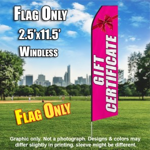 Gift Certificate (Pink/White) Econo Feather Banner Flag