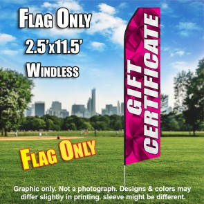 Gift Certificate (Pink/Bows) Econo Feather Banner Flag