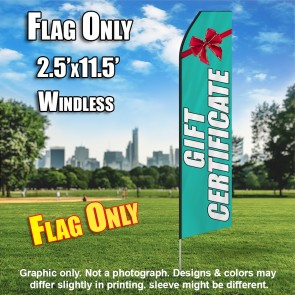Gift Certificate (Teal/White) Econo Feather Banner Flag