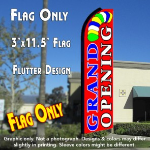 GRAND OPENING (Red) Flutter Feather Banner Flag (11.5 x 3 Feet)