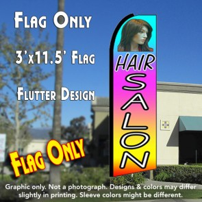 HAIR SALON (Multi-colored) Flutter Feather Banner Flag