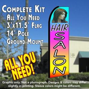 HAIR SALON (Multi-colored) Flutter Feather Banner Flag Kit