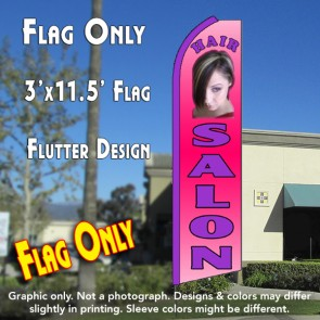HAIR SALON (Pink) Flutter Feather Banner Flag