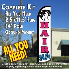hair salon wndless feather flag kit