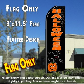 HALLOWEEN (Cat) Flutter Feather Banner Flag (11.5 x 3 Feet)