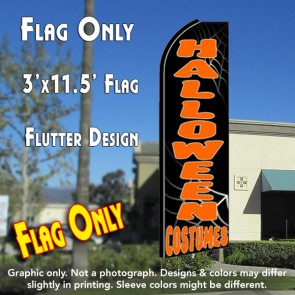 HALLOWEEN COSTUMES Flutter Feather Banner Flag (11.5 x 3 Feet)