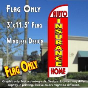Insurance Auto Home (Red Yellow) Windless Polyknit Feather Flag