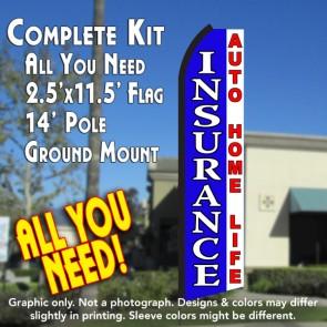 INSURANCE (Blue/White) Flutter Feather Banner Flag Kit