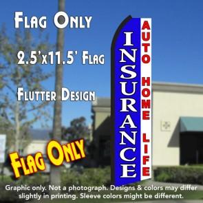 INSURANCE (Blue/White) Flutter Feather Banner Flag