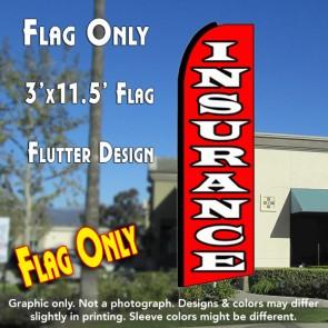 INSURANCE (Red/White) Flutter Feather Banner Flag