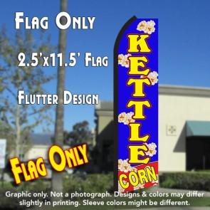 KETTLE CORN (Blue/Yellow) Flutter Polyknit Feather Flag (11.5 x 2.5 feet)