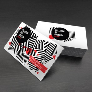 uncoated black edge business cards