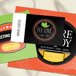 """1.5"""" X 3.5"""" 16PT Silk Laminated Business Cards with Spot UV on both sides"""