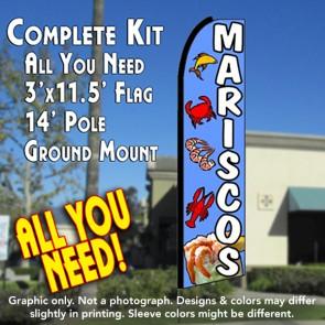 MARISCOS Flutter Feather Banner Flag Kit (Flag, Pole, & Ground Mt)