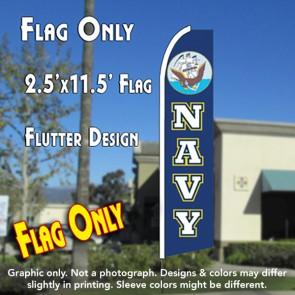 NAVY Flutter Feather Banner Flag (11.5 x 2.5 Feet)