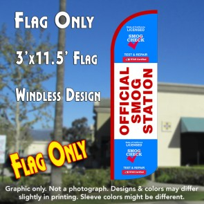Official Smog Station Windless Polyknit Feather Flag (3 x 11.5 feet)