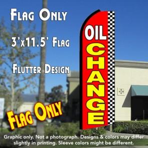 OIL CHANGE (Checkered) Flutter Feather Banner Flag (11.5 x 3 Feet)