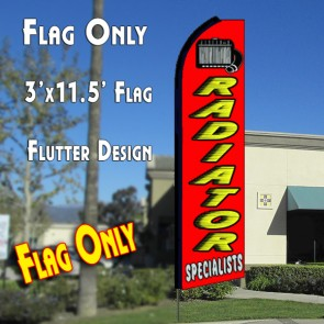RADIATOR SPECIALISTS (Red) Flutter Feather Banner Flag (11.5 x 3 Feet)