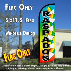 Raspados (Snow Cone) Windless Polyknit Feather Flag (3 x 11.5 feet)