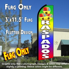 RASPADOS (Snow Cones) Flutter Feather Banner Flag (11.5 x 3 Feet)