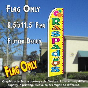 Raspados (Yellow) Flutter Feather Banner Flag (11.5 x 2.5 Feet)