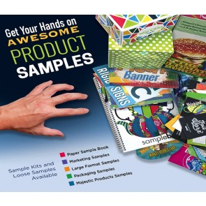 Printing Sample Packs for Marketing, Majestic, Packaging and Overnight Grafix Products