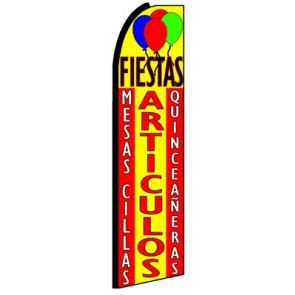 Fiestas Articulos  Feather Banner Flag