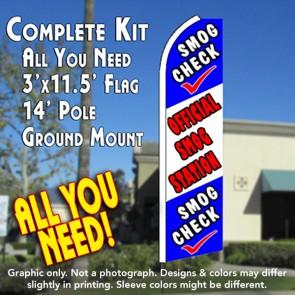 SMOG CHECK (Official) Flutter Feather Banner Flag Kit (Flag, Pole, & Ground Mt)