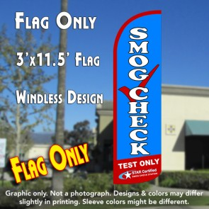 Smog Check Test Only Windless Polyknit Feather Flag (3 x 11.5 feet)